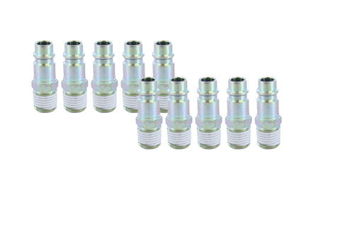 "Prevost ERP 076251 1/4"" Thread Male NPT 3/8"" Body Size High Flow Air Plug-10pk - Autobodynow.com"