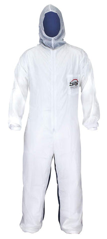 6937 Moonsuit Nylon Front/Cotton Back Coverall, Medium