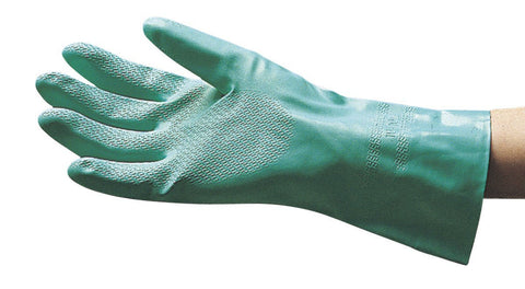 SAS Safety 6533 Flock Lined Nitrile Chemical Gloves, Large - Autobodynow.com