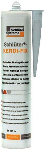 Kerdi Fix Grey Sealant 9.81OZ - Pack of 3