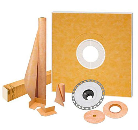 "Kerdi-Shower Kit 48"" x 48"", PVC Flange"