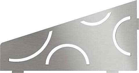 Quadrilat Corner Shelf-E - Curve Design - Brushed Stainless Steel (SES3D6EB)