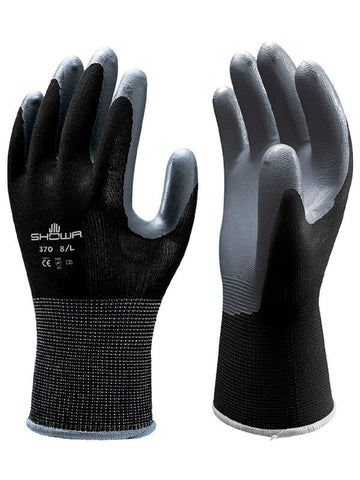 24 Pair - Showa Atlas 370 Black Work Gloves (2 Dozen)