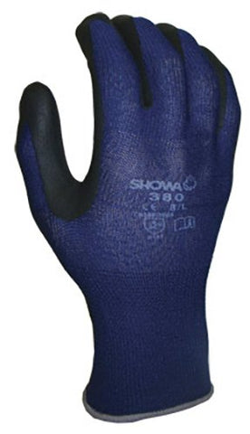 380XL-09 ATLAS Nitrile Glove, X-Large, Blue with Black Coating (Pack of 144)