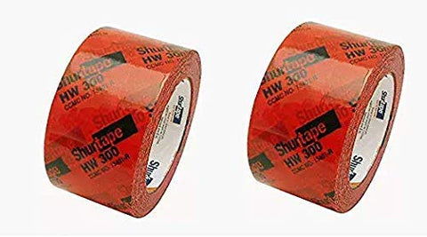 "134338 HW-300 Housewrap Sheathing Tape: 2-1/2"" x 60 yd, Red/Black (Twо Расk)"