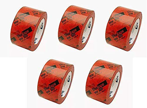 "134338 HW-300 Housewrap Sheathing Tape: 2-1/2"" x 60 yd, Red/Black (Fivе Расk)"
