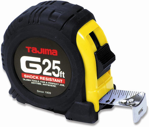 TAJIMA Tape Measure - 25 ft x 1 inch G-Series Measuring Tape