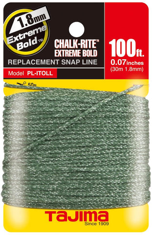 TAJIMA Replacement Snap-Line - 1.8 mm x 100 ft Chalk-Rite Dura Braided String