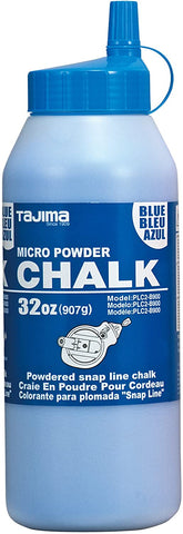 TAJIMA Micro Chalk - Blue 32 oz (907g) Ultra-Fine Snap-Line Chalk