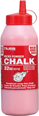 TAJIMA Micro Chalk - Red 32 oz (907g) Ultra-Fine Snap-Line Chalk