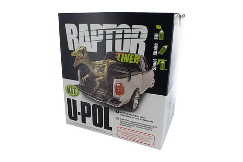 Raptor Tintable Truck Bed Liner 4 Liter Kit w/Basalt Gray Color Tint Pouch 1.5Oz