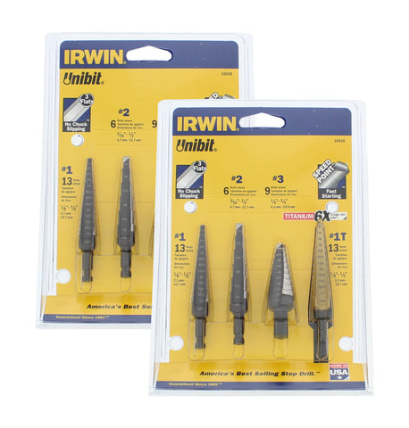 4 Piece Unibit Step Drill Set