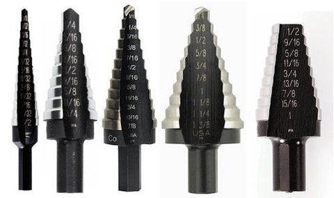 Unibit Shank Step Drill Bit Set #1, #3, #4, #5, and #20