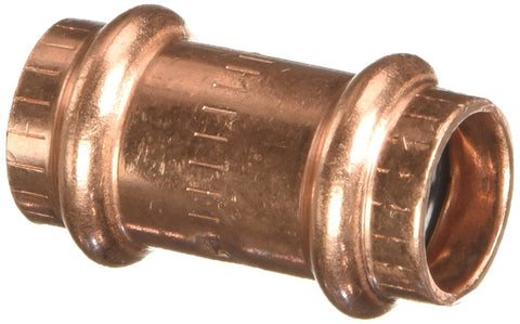 "78047 Propress Zero Lead Copper Coupling with Stop 1/2"" Press x Press (5-Pack)"