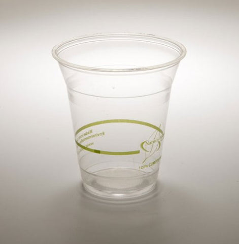 12 oz. Cold Drink Cup PLA Biodegradable PLA Corn Plastic (Pack of 50)