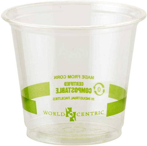 100% Compostable Cups, for Cold Drinks, Clear, 6 oz (Pack of 2000)