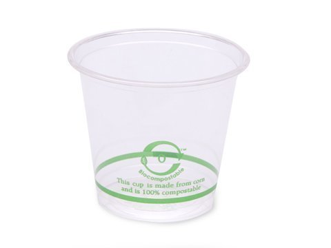 Biodegradable,100% Compostable PLA 6oz Cold Cup (Package of 400)