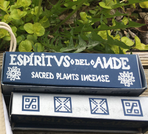 Espiritus del Ande Incense: Palo Santo, Wiraqoya and Copal Sticks