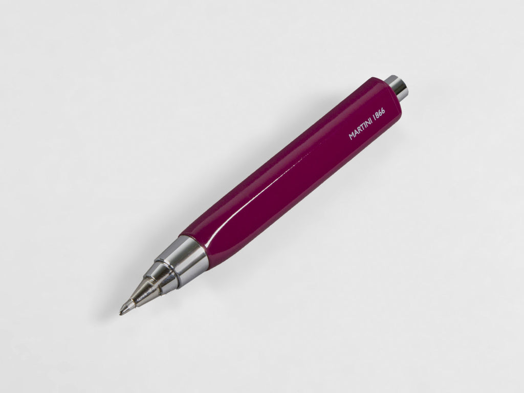 MAT4+ triangular pen - 4 refills + sharpener, eggplant colour