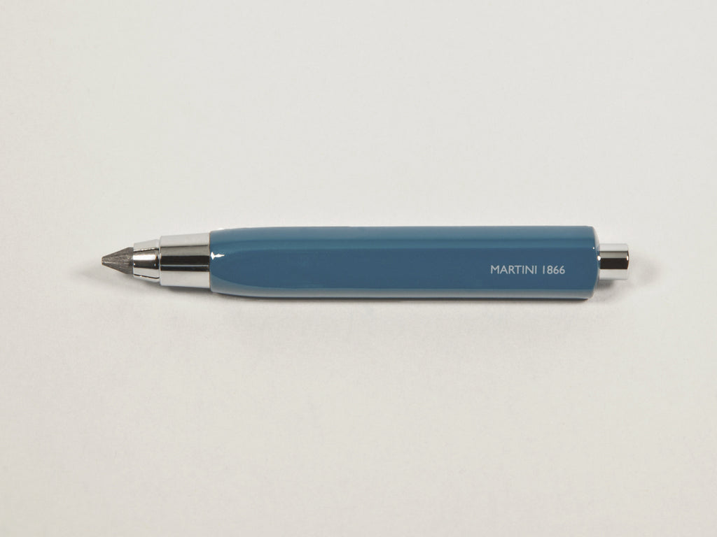 MAT4+ triangular pen - 4 refills + sharpener, venice blue colour