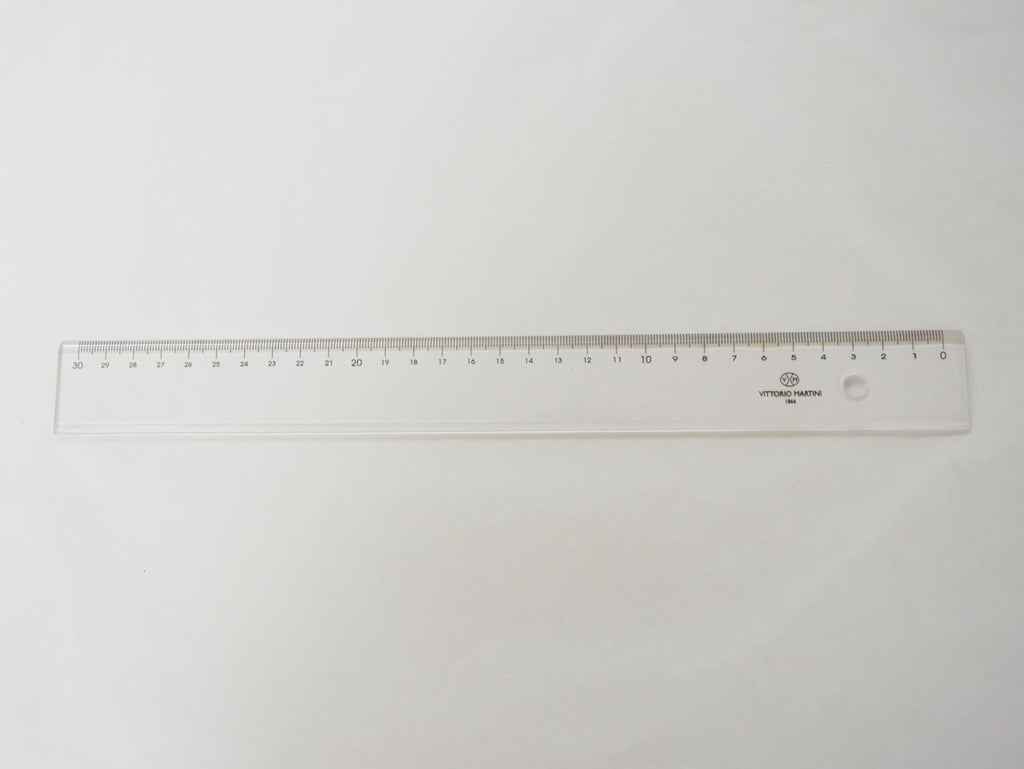 Left-handed Ruler, 30 cm, neutral colour - VITTORIO MARTINI 1866