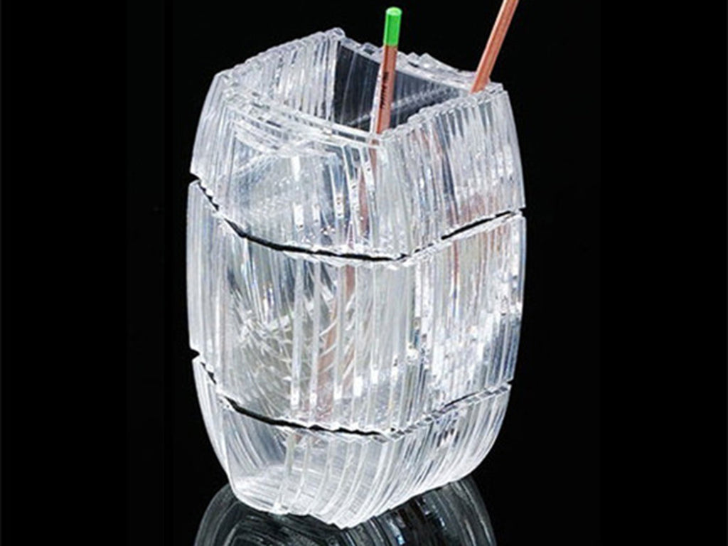 Perspex pen holder, handmade - VITTORIO MARTINI 1866