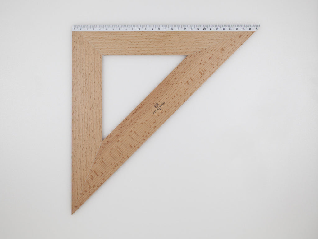 Wooden Square 40-45°, graduated side 28 cm - VITTORIO MARTINI 1866