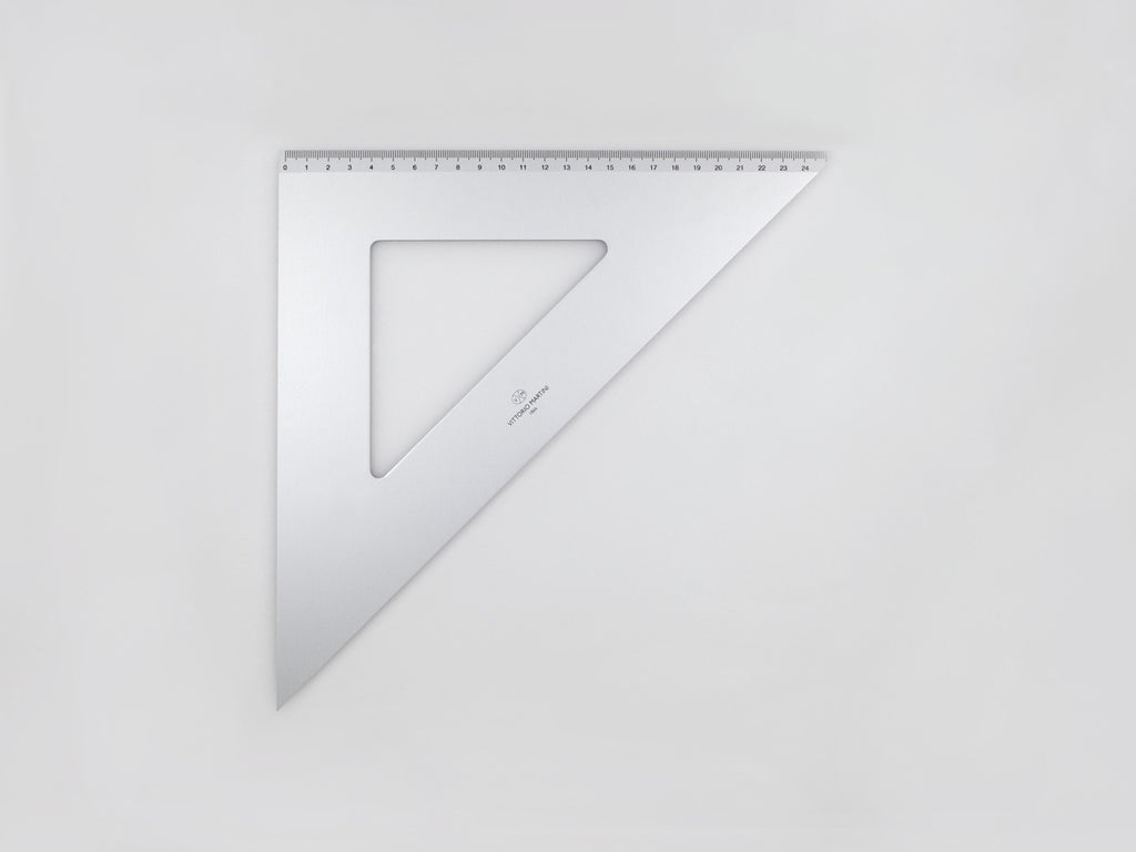 Aluminium Square 35-45°, graduated side 25 cm - VITTORIO MARTINI 1866