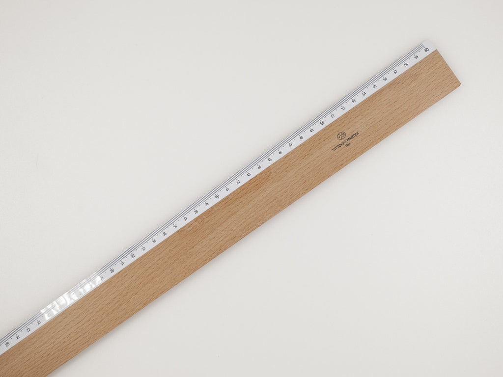 Wooden ruler, 60 cm - VITTORIO MARTINI 1866