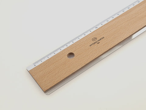 Wooden ruler, 50 cm - VITTORIO MARTINI 1866