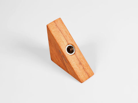 Wooden triangular pencil sharpener for MAT4+, cherry wood - VITTORIO MARTINI 1866