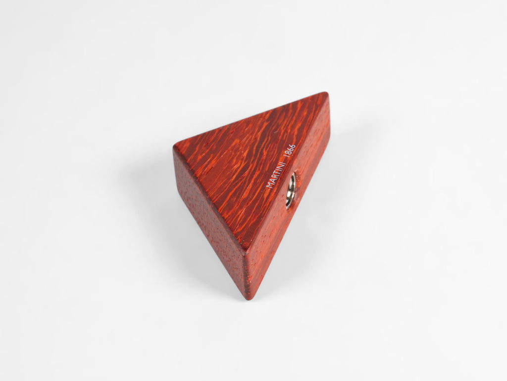 Wooden triangular pencil sharpener for MAT4+, padouk wood - VITTORIO MARTINI 1866