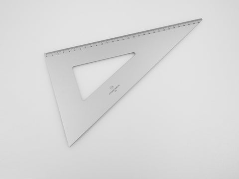 Aluminium Square 30-60°, graduated side 30 cm - VITTORIO MARTINI 1866