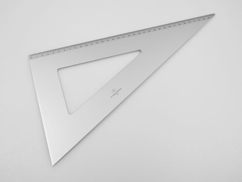 Aluminium Square 35-60°, graduated side 35 cm - VITTORIO MARTINI 1866