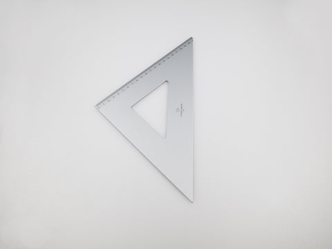 Aluminium Square 30-45°, graduated side 21 cm - VITTORIO MARTINI 1866
