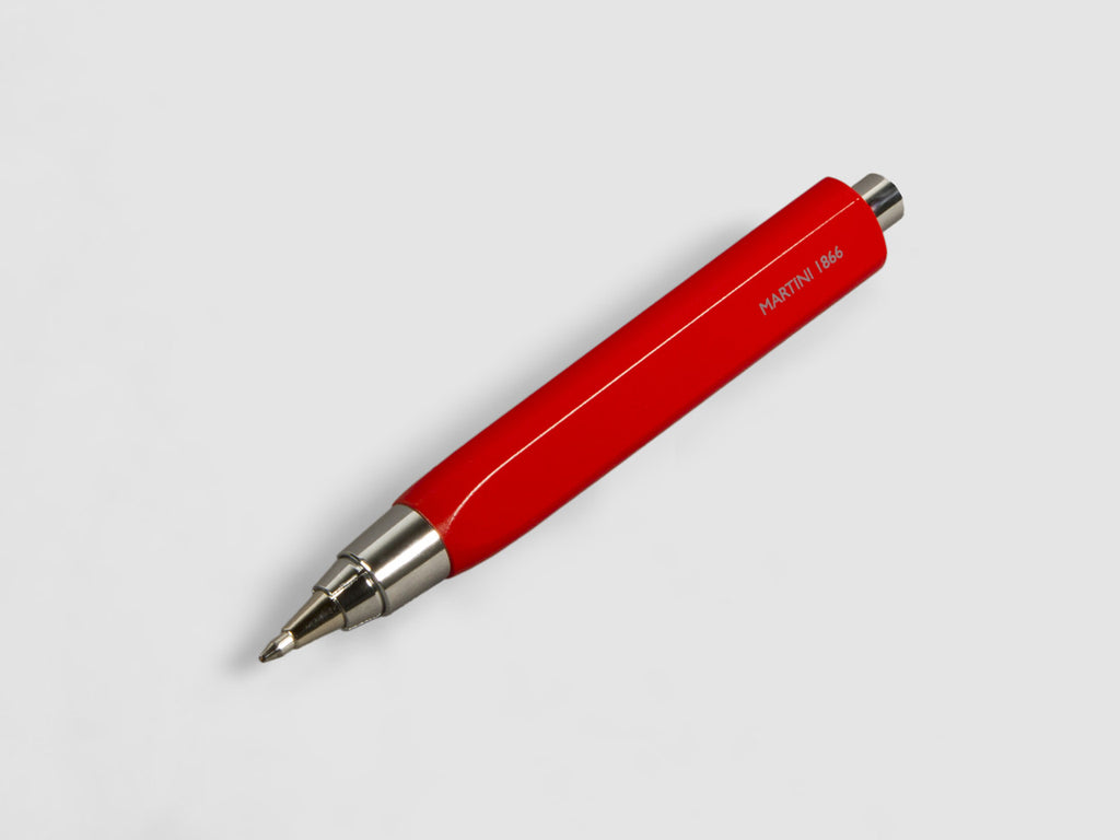 MAT4+ triangular pen - 4 refills + sharpener, red hot pepper colour