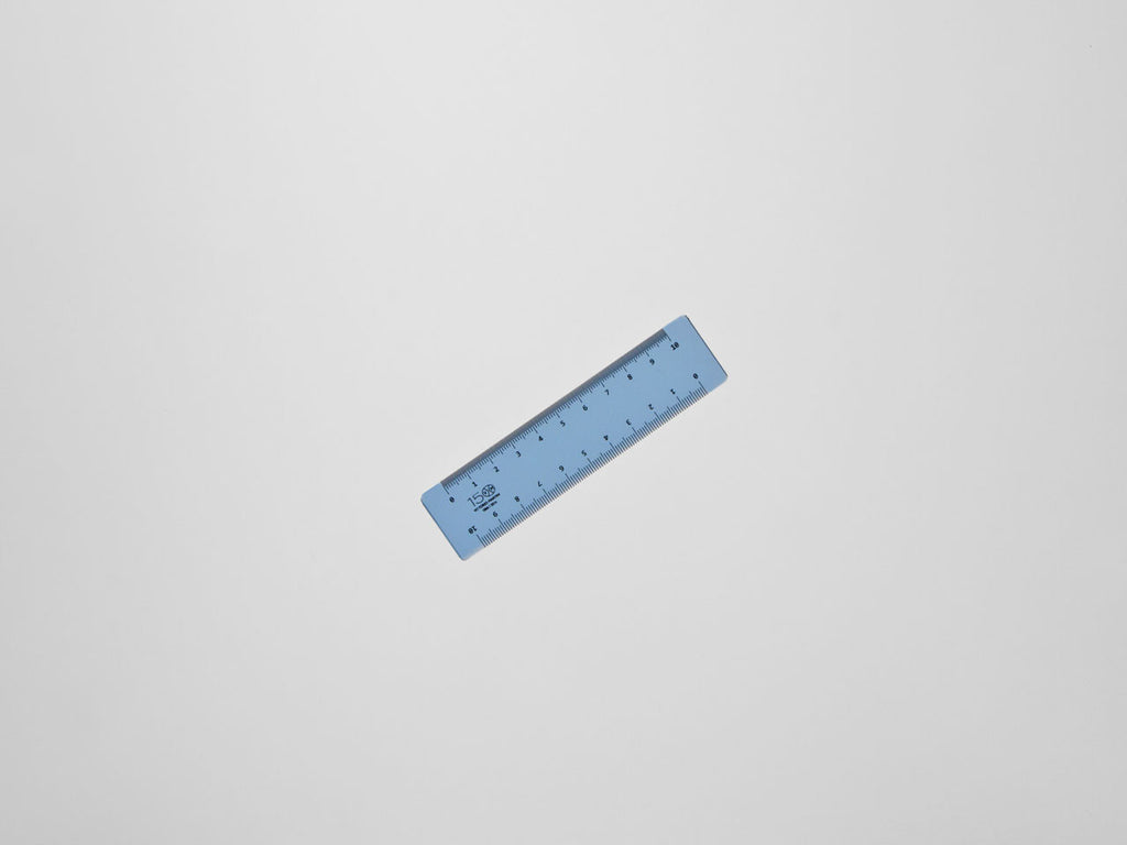 Perspex decimeter 10 cm, light blue - VITTORIO MARTINI 1866