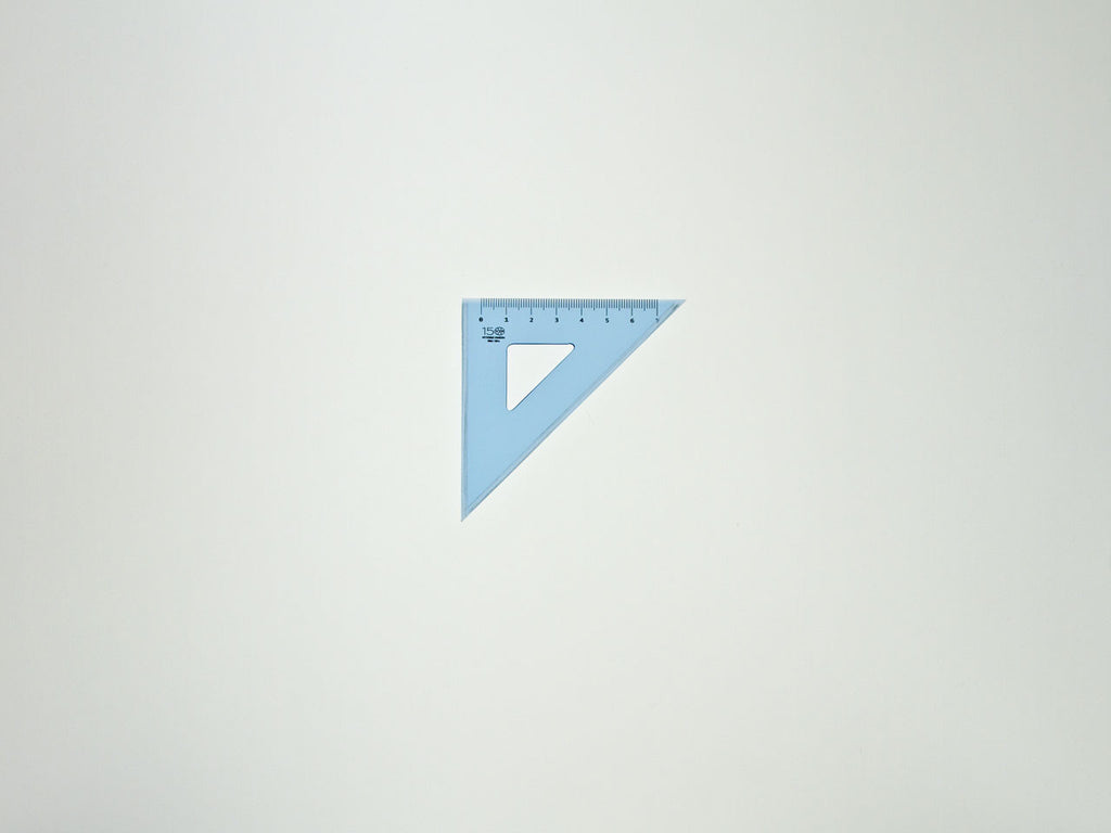 Perspex Square 12-45°, graduated side 7 cm, light blue - VITTORIO MARTINI 1866