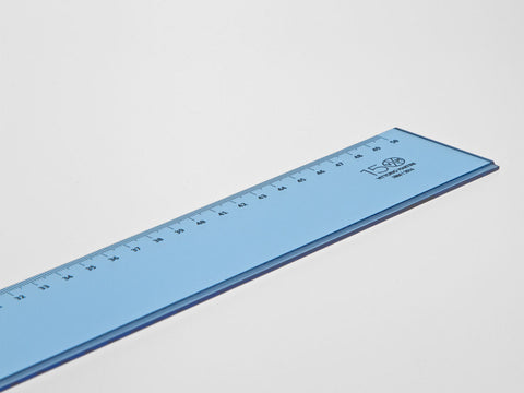 Perspex Ruler, light blue - 50 or 60 cm - VITTORIO MARTINI 1866