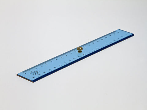Perspex decimeter 20 cm, light blue - VITTORIO MARTINI 1866