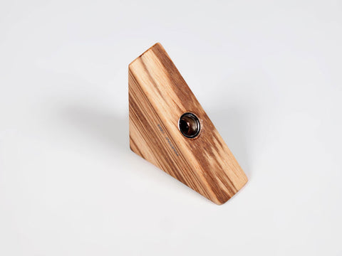 Wooden triangular pencil sharpener for MAT4+, zebrano wood - VITTORIO MARTINI 1866