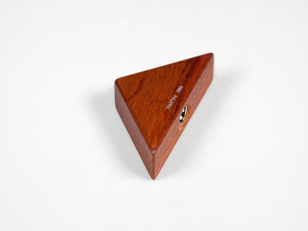 Wooden triangular pencil sharpener for MAT4+, mahogany wood - VITTORIO MARTINI 1866