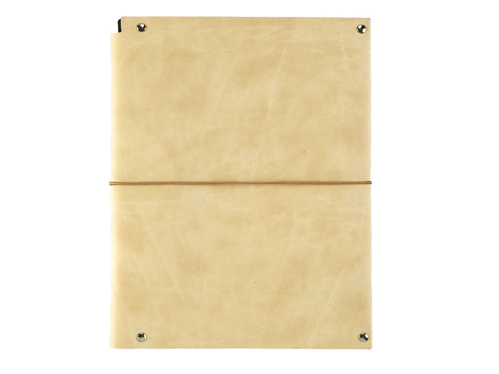 A5 Notepad folder, nubuck leather, wavy dunes - VITTORIO MARTINI 1866