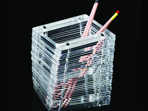 Perspex rectangular pen holder, handmade - VITTORIO MARTINI 1866
