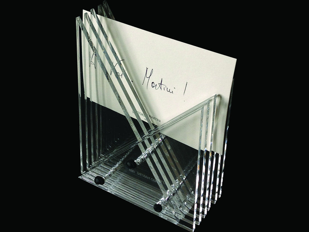 Perspex business cards' holder, handmade - VITTORIO MARTINI 1866