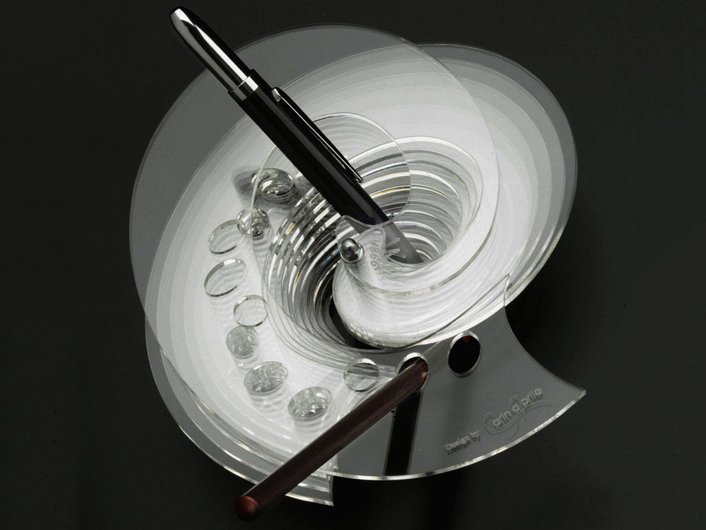 Perspex rotating pen holder, handmade - VITTORIO MARTINI 1866