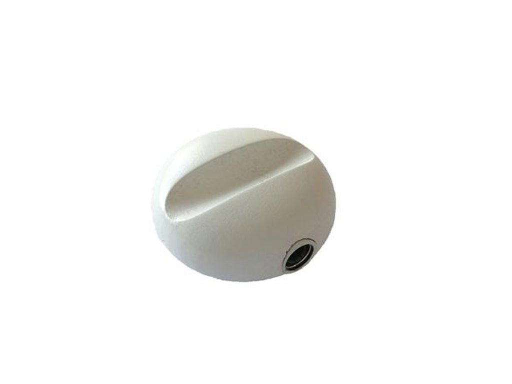 Wooden oval pencil sharpener for MAT4+, colour white - VITTORIO MARTINI 1866