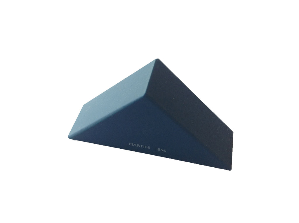 Wooden triangular pencil sharpener for MAT4+, blue beyond ocean - VITTORIO MARTINI 1866