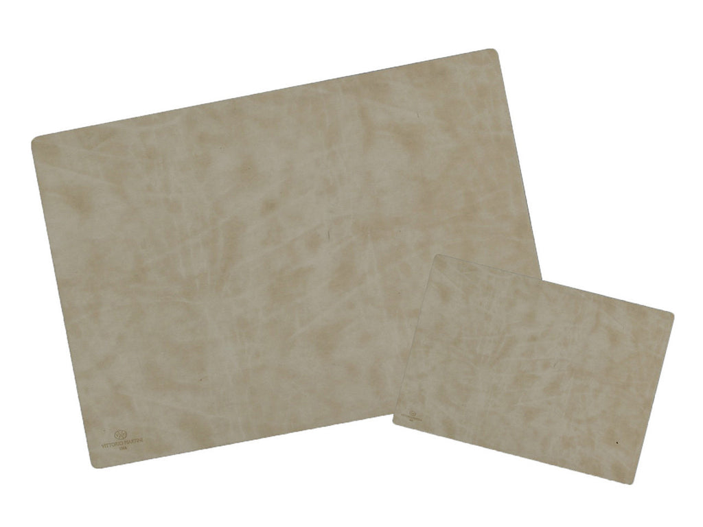 Desk pad+ mouse pad in nubuck leather, wavy dunes - VITTORIO MARTINI 1866