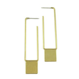 Natalie Joy Jewelry Rectangle Joop Earrings Brass